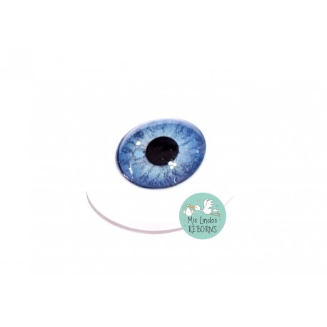 BLUE / AZUL CRISTAL OVALADO 20 mm