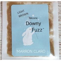 MARRON CLARO. Silicona Downy Fuzz™ fibras. 0,5 gr