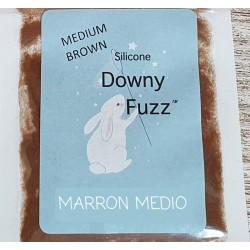 MARRON MEDIO. Silicona Downy Fuzz™ fibras. 0,5 gr