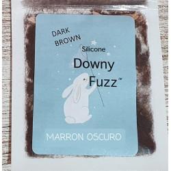 MARRON OSCURO. Silicona Downy Fuzz™ fibras. 5gr