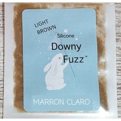MARRON CLARO. Silicona Downy Fuzz™ fibras. 5gr